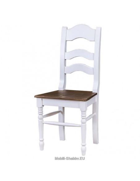 Sedia legno massello shabby chic