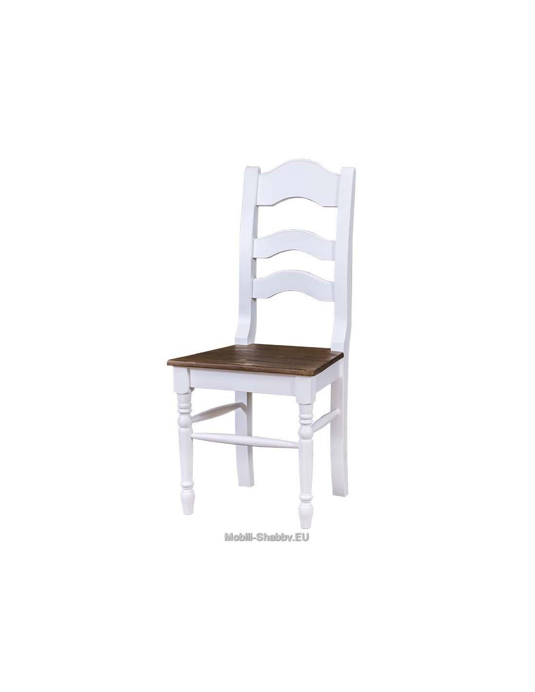 sedia in legno massello shabby chic MS203 - Orissa Milano