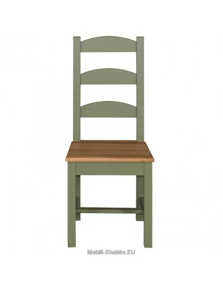 Sedia legno massello country