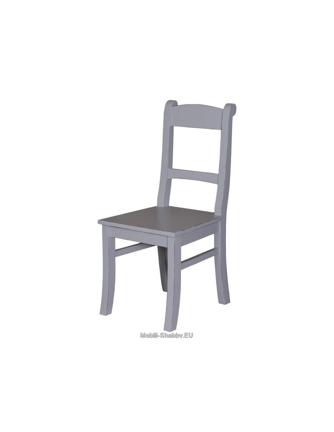 sedia in legno massello colorata MS64 - Mobili-Shabby.EU by Orissa