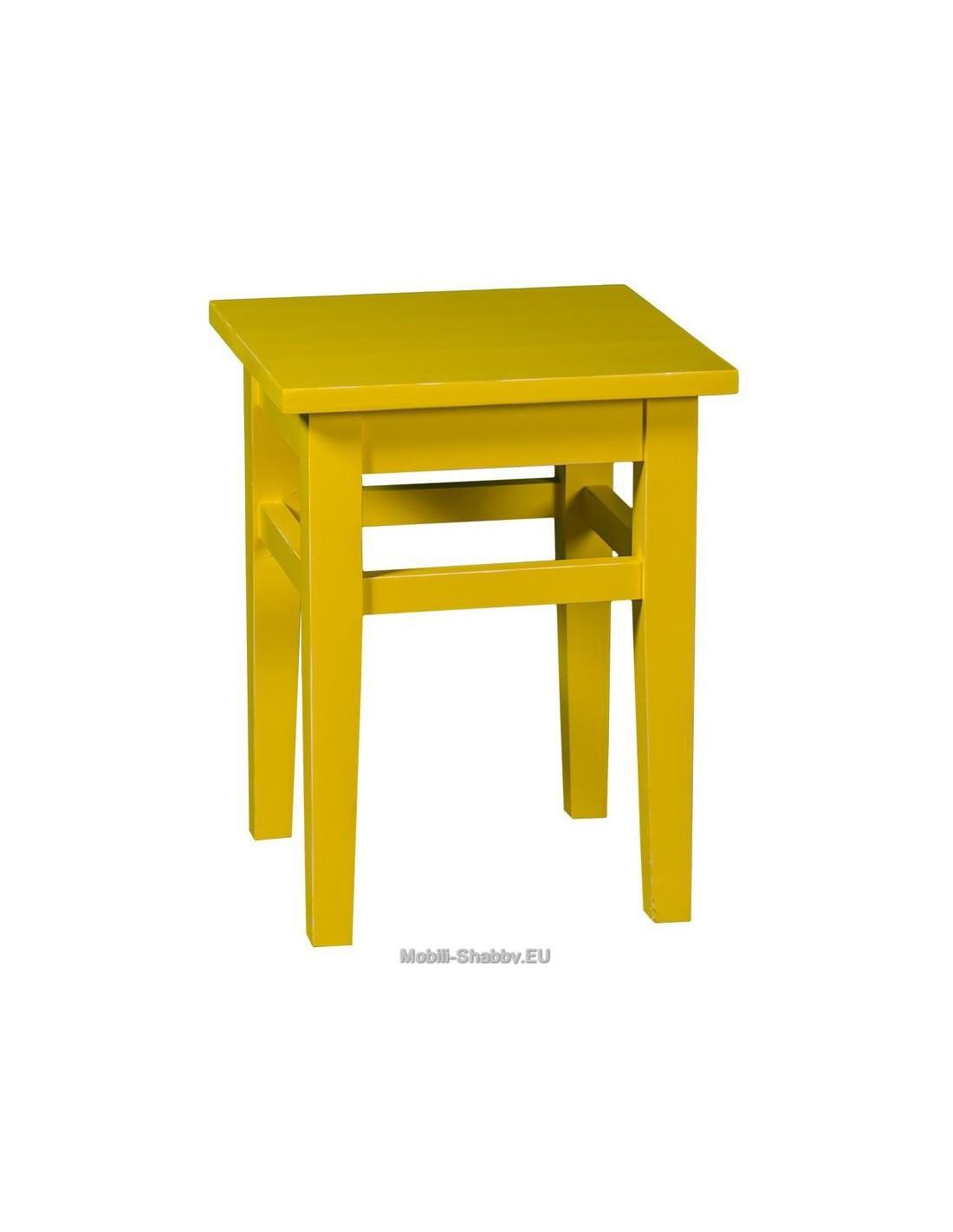 sgabello in legno massello colorata ms83 mobili shabby