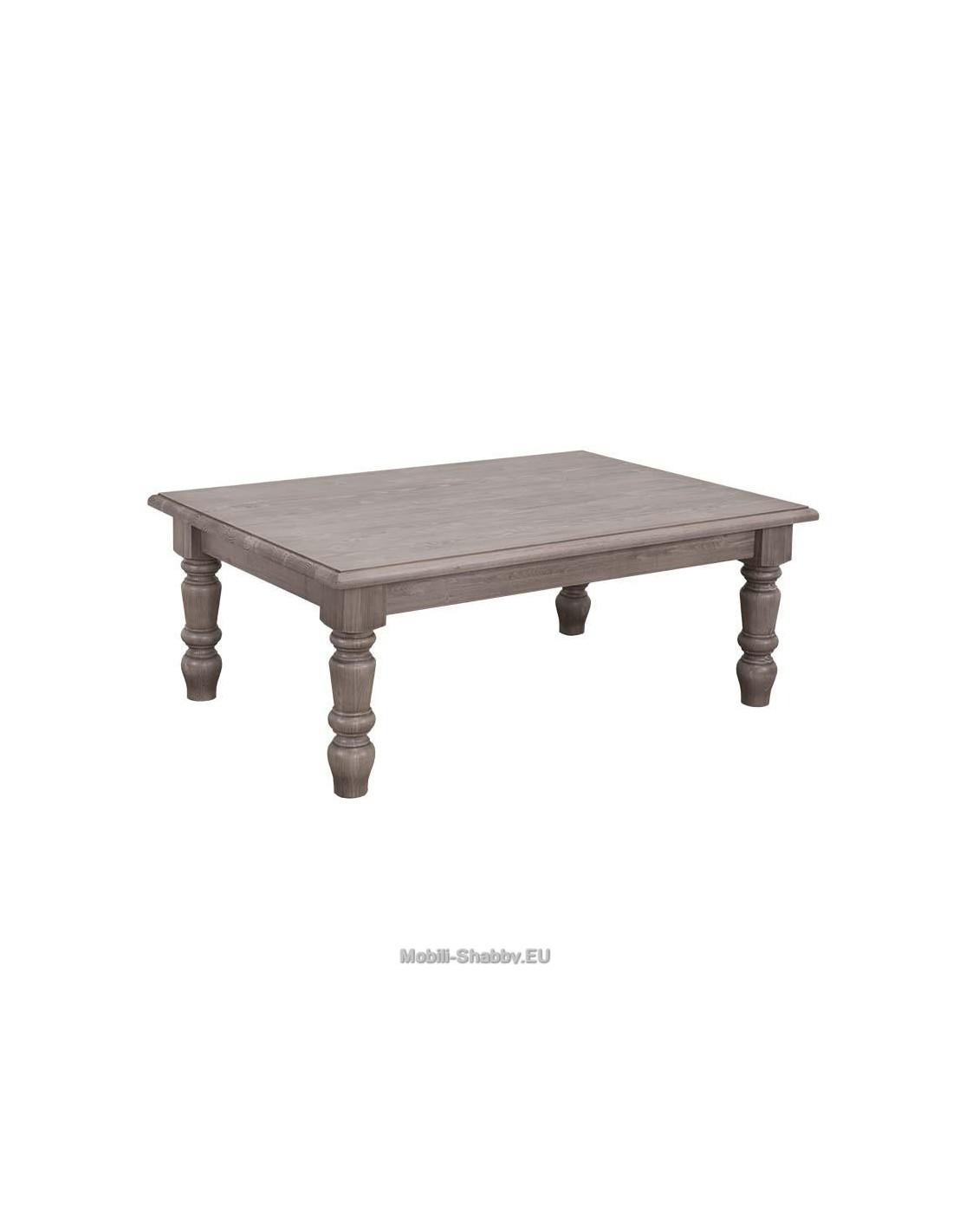 Tavolo basso legno massello stile shabby chic MS446 - Orissa Milano