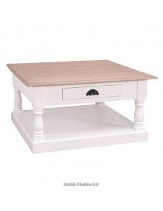Tavolino stile country con cassetto 90cm