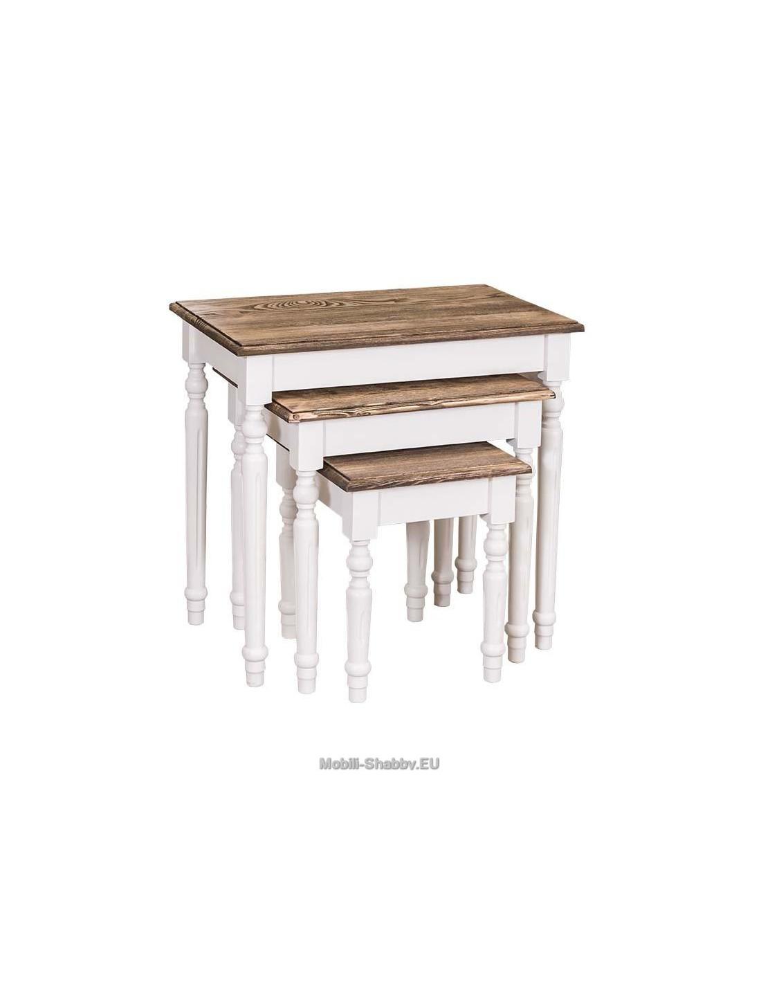 Set tavoli da divano in legno massello ms80 orissa milano - Tavoli da divano ...