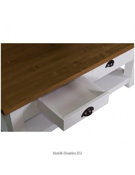 Tavolo basso cassetti 120cm