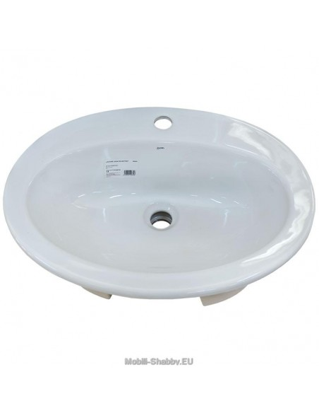 Lavandino ovale in ceramica