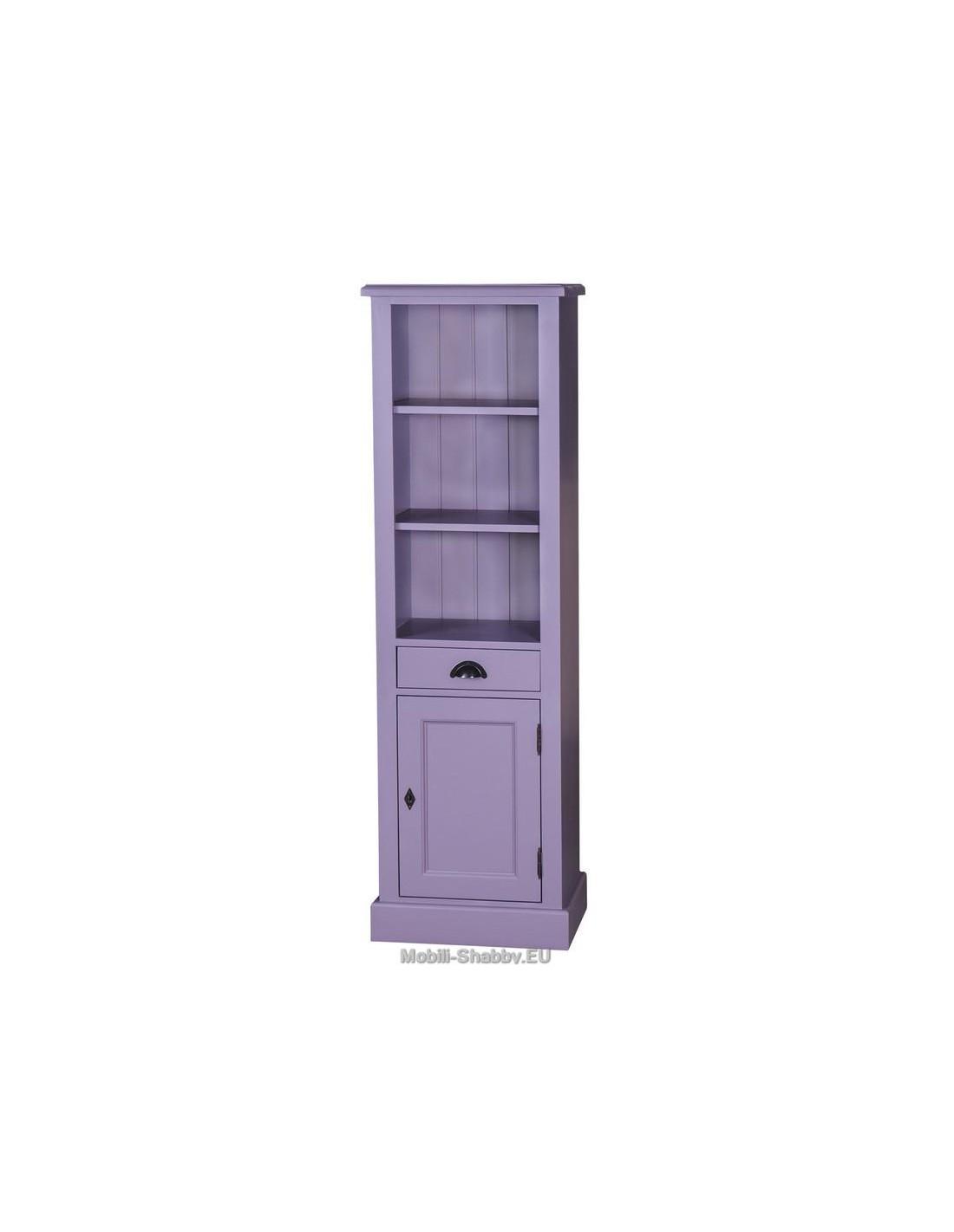 mobile bagno colonna provenzale colorata MS420 - Mobili-Shabby.EU ...