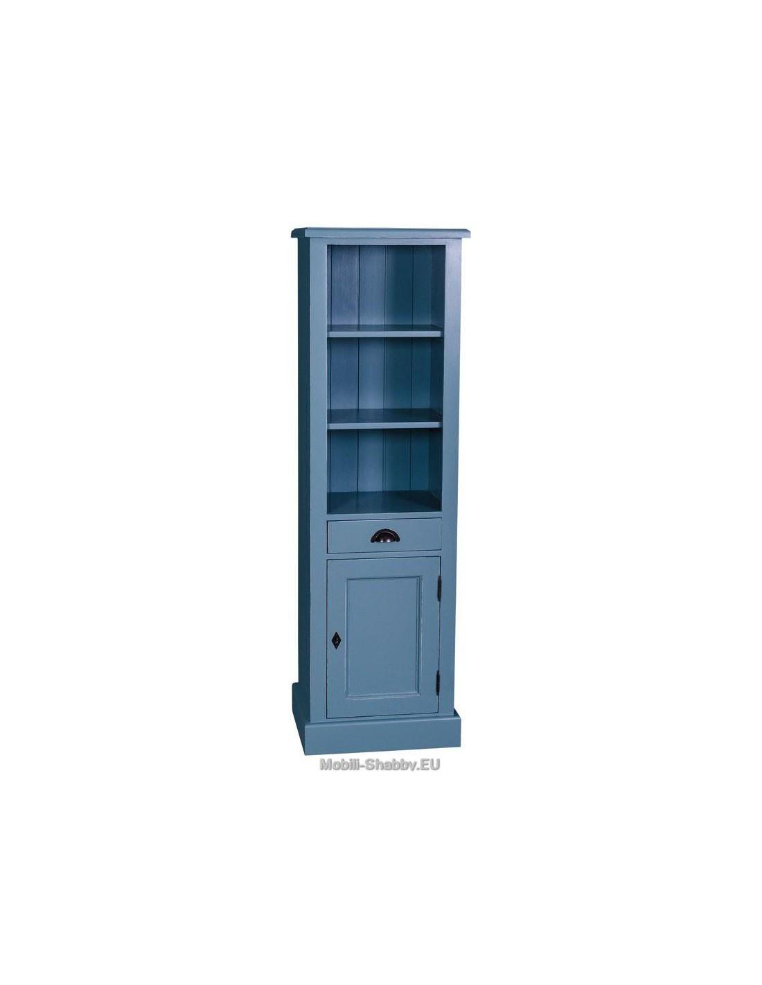 mobile bagno colonna provenzale colorata MS420 - Mobili-Shabby.EU by Orissa