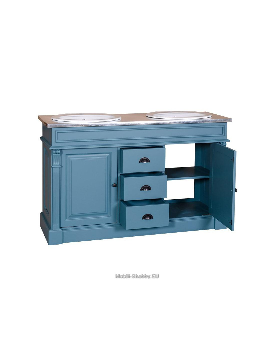 Mobile bagno sottolavabo country ms4001 mobili shabby eu for Mobile sotto lavabo