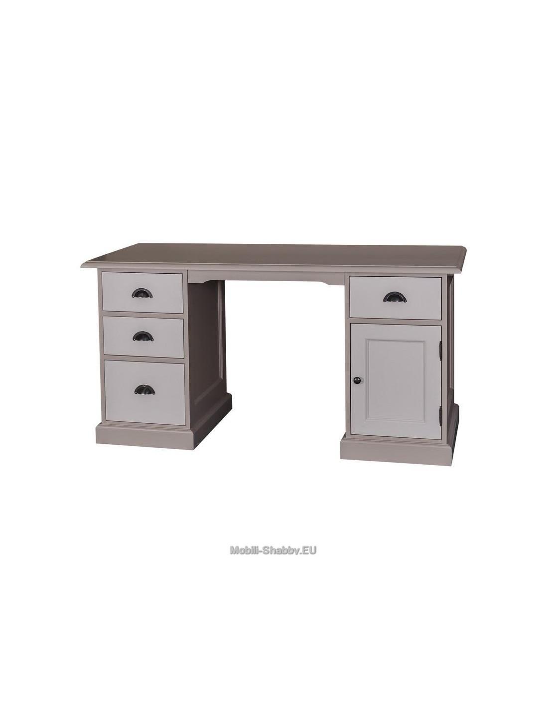 Scrivania legno massello colorato MS039 - Orissa Milano