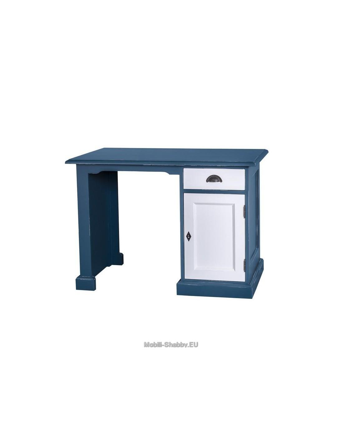 Scrivania ufficio legno massello colorato MS498 - Mobili-Shabby.EU ...