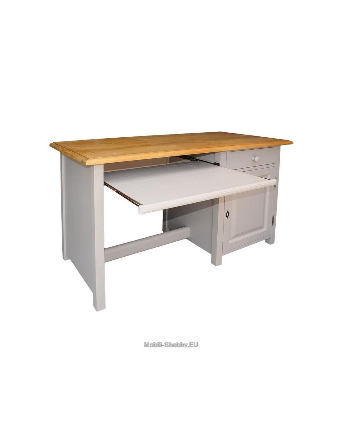 scrivania ufficio con piano estraibile tastiera ms142