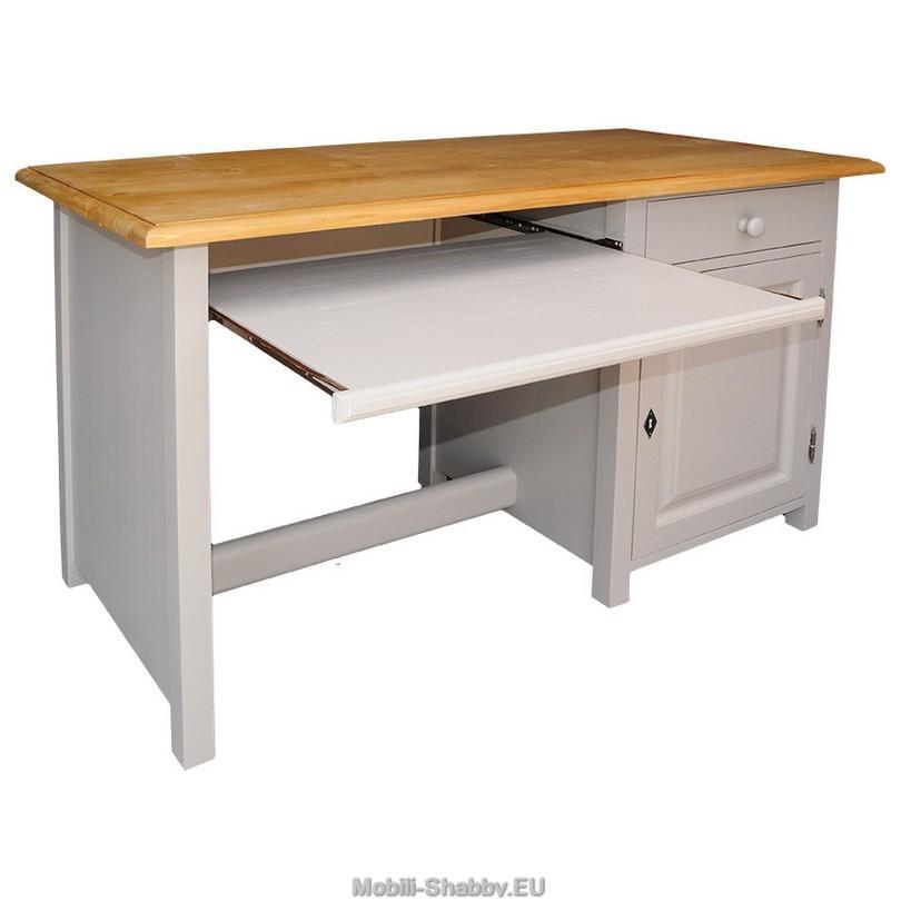 Scrivania ufficio legno massello colorato MS604 - Mobili-Shabby.EU ...