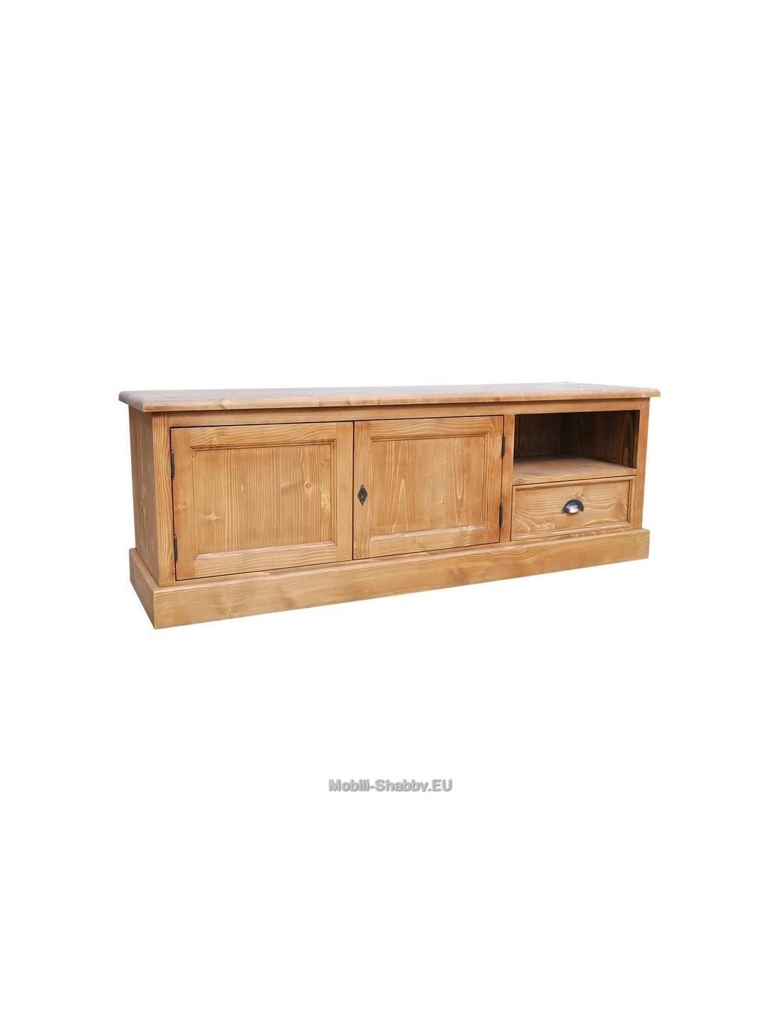 Credenza porta tv legno massello colorata ms101 mobili for Credenza colorata