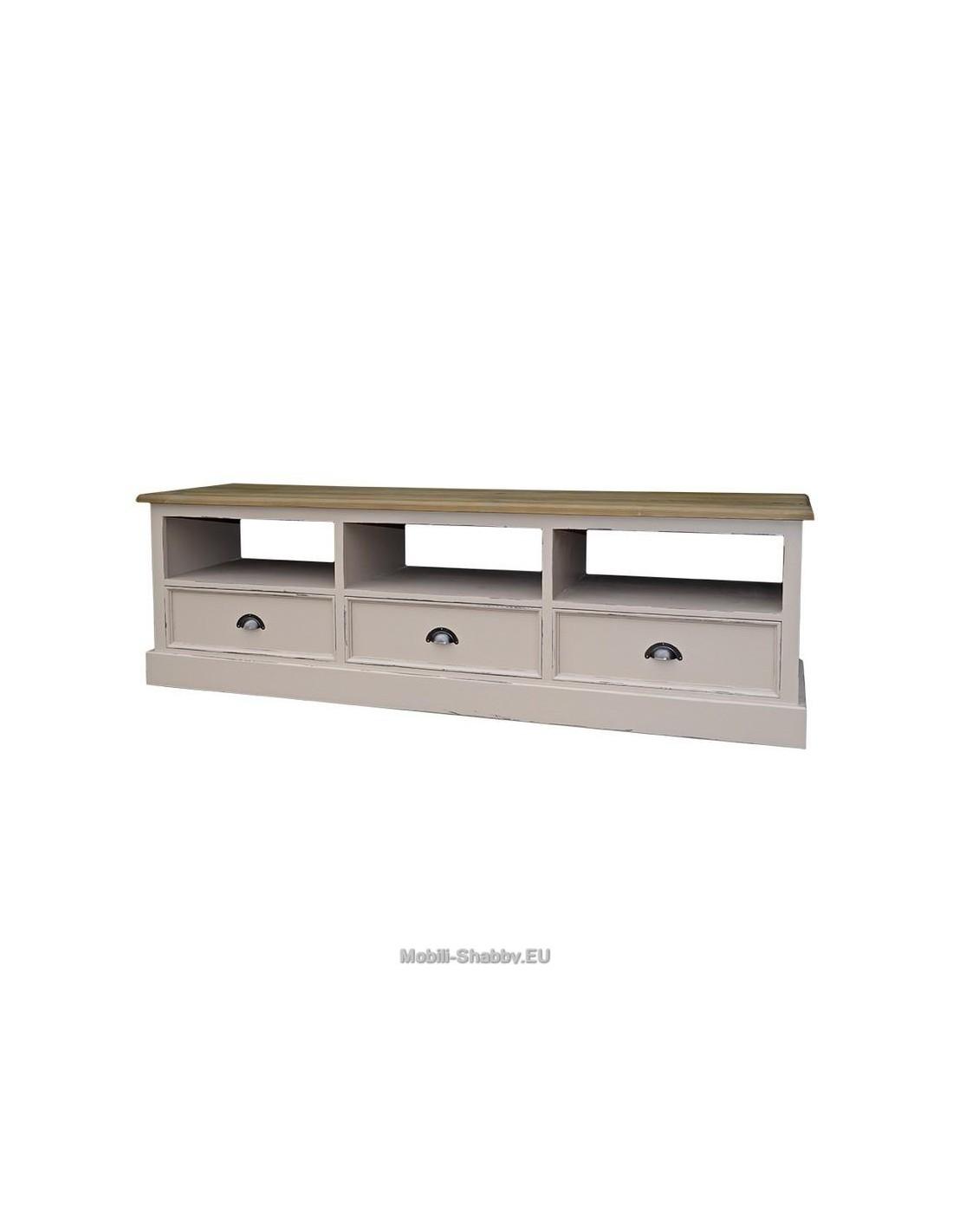 Credenza porta tv legno massello colorata ms106 mobili - Porta tv in legno ...