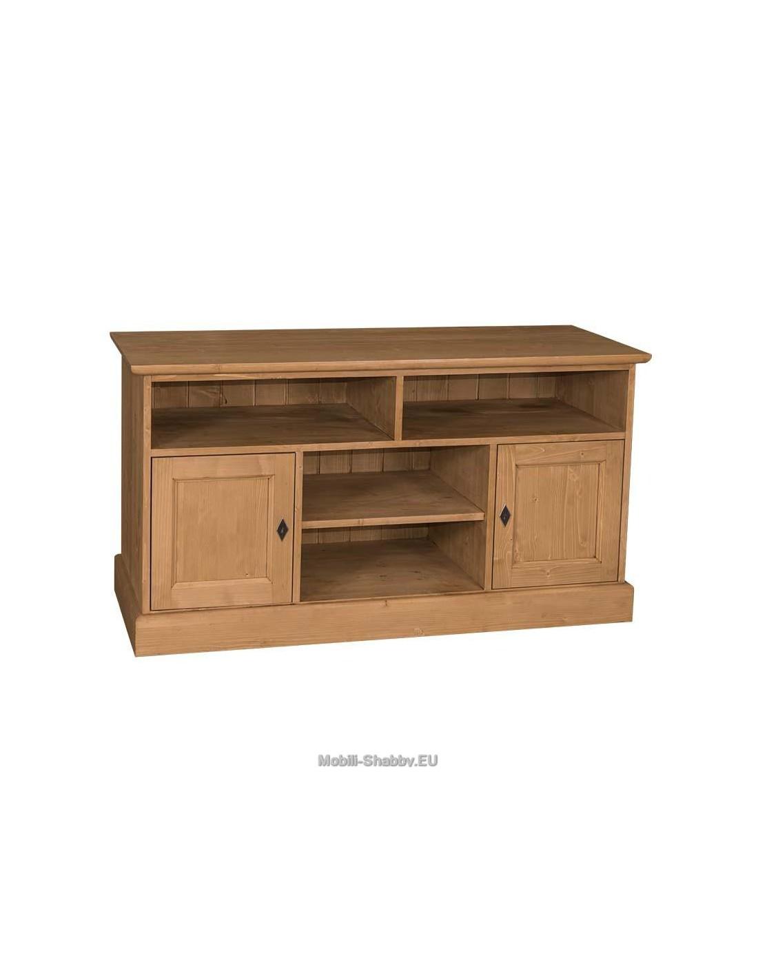 Credenza porta TV legno massello colorata MS533 - Mobili-Shabby.EU ...