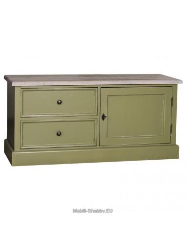 Credenza porta tv legno massello colorata ms111 mobili for Credenza colorata