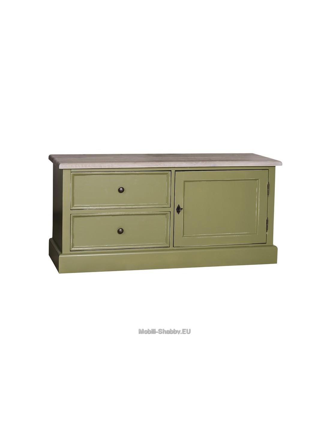 Credenza porta TV legno massello colorata MS111 - Orissa Milano