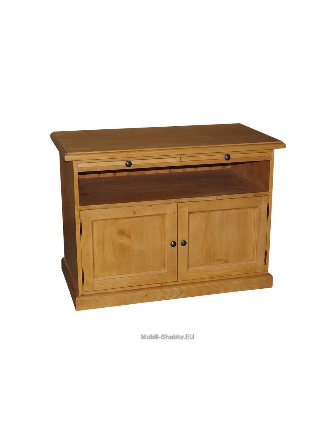 Credenza porta tv legno massello colorata ms289 mobili for Credenza colorata