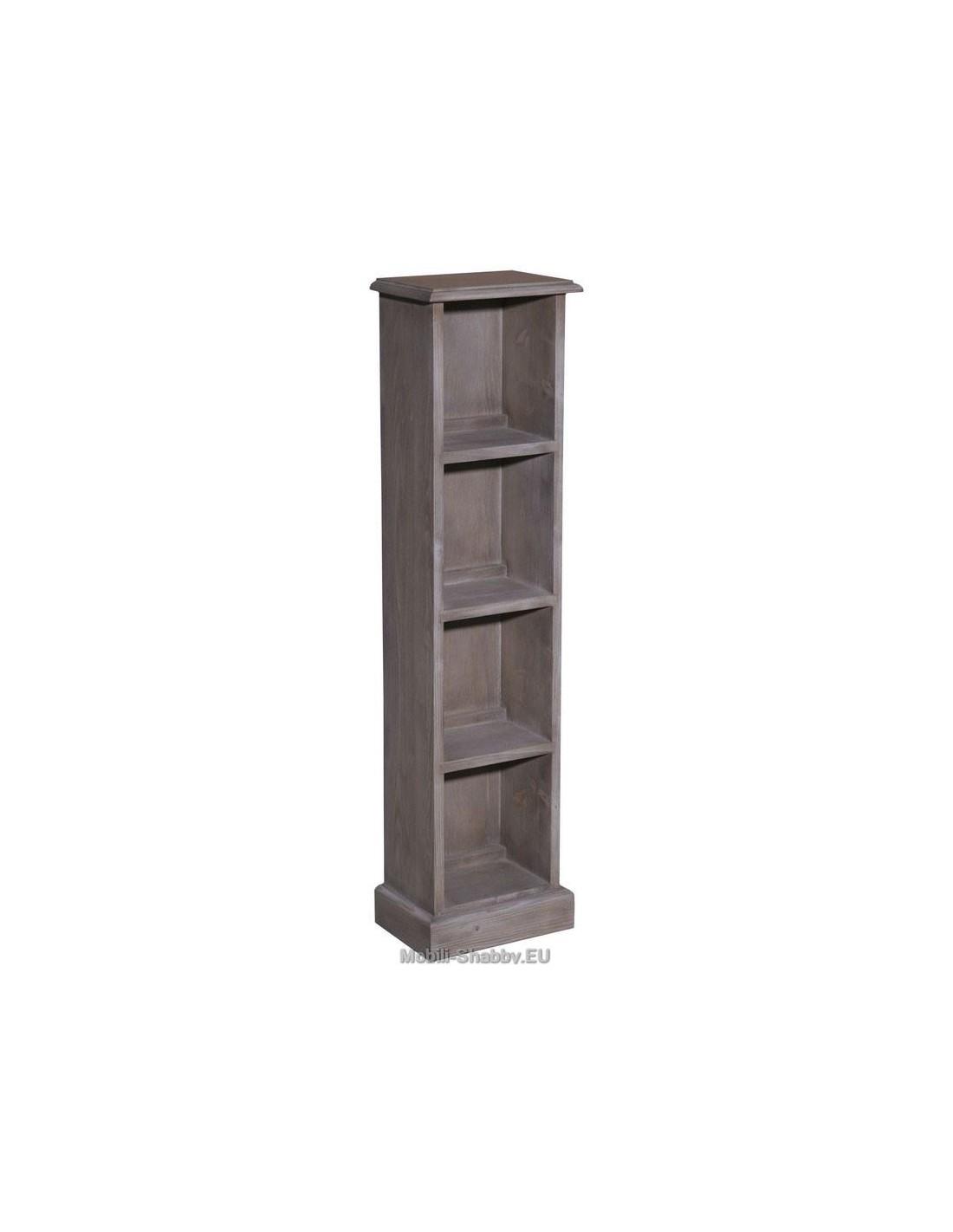 Colonnina porta cd e dvd in legno massello ms235 mobili - Mobili porta dvd ...