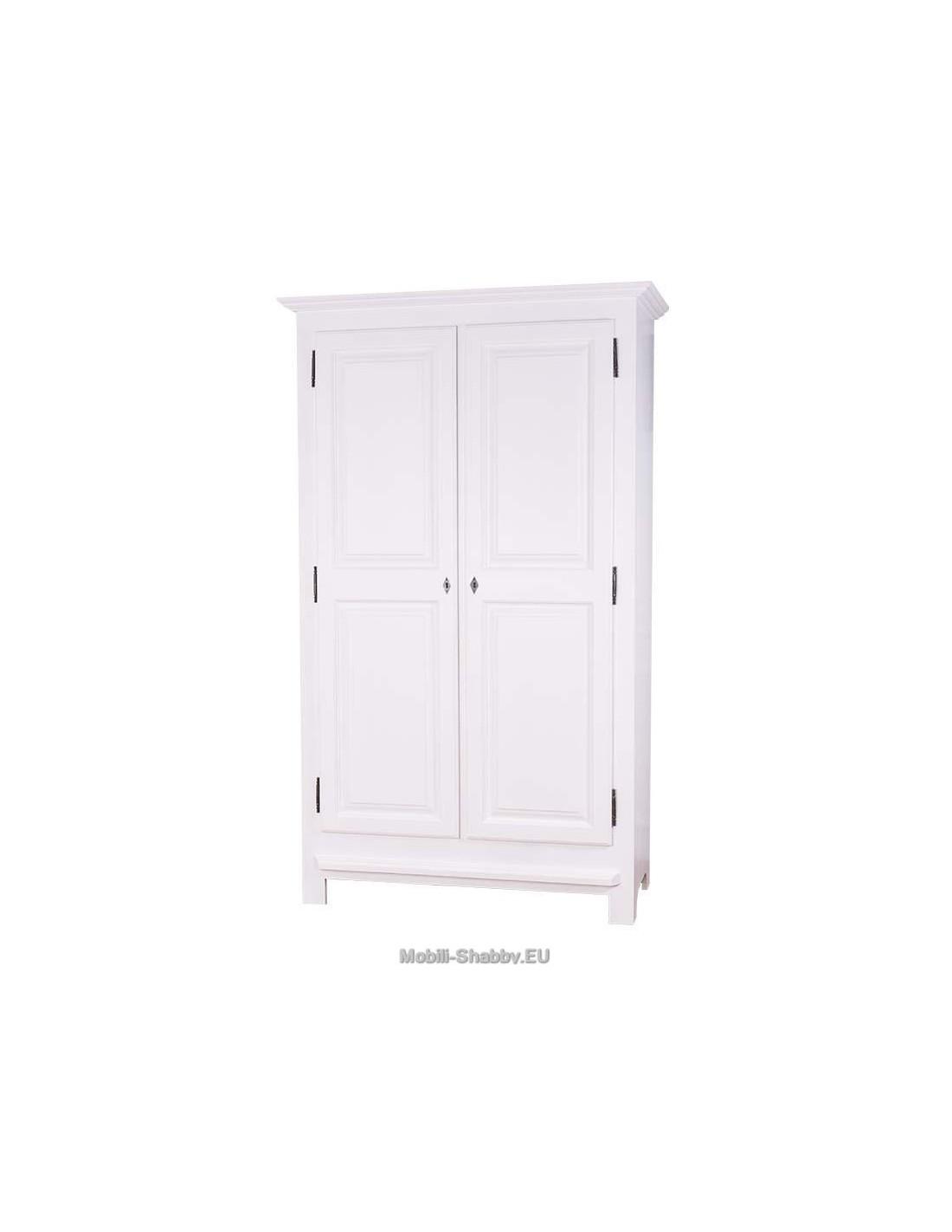 Armadio legno colorato doppia anta ms069 mobili shabby for Armadio guardaroba 6 ante
