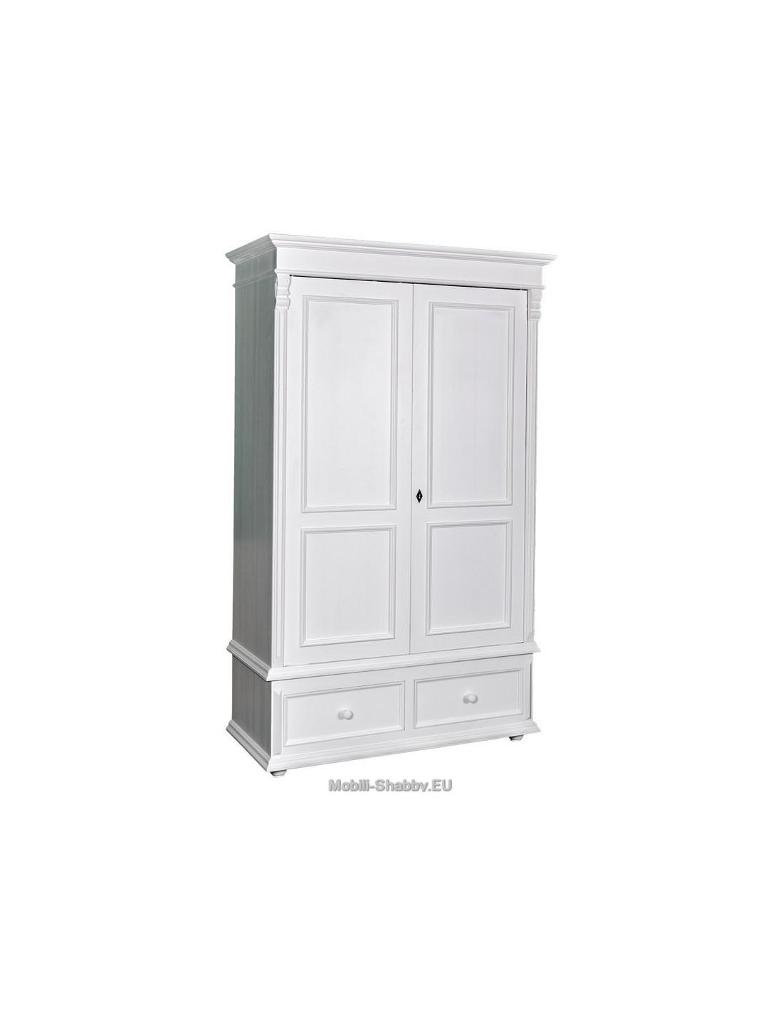 Armadio shabby chic due ante e cassetti ms105 mobili for Armadio shabby ikea