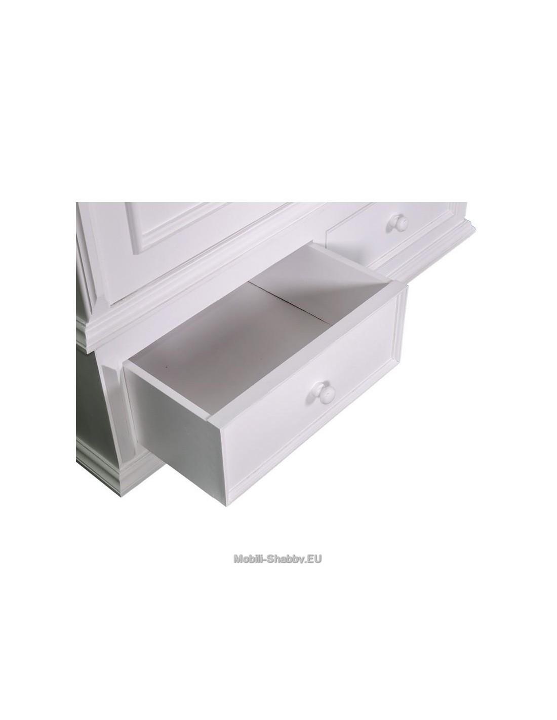 armadio shabby chic due ante e cassetti ms105 mobili shabby eu by orissa. Black Bedroom Furniture Sets. Home Design Ideas