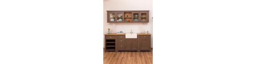 Cucina modulare legno massello stile provenzale, country e shabby ...