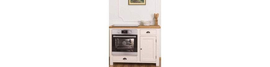 Cucina moduli base provenzali colorati, country e shabby chic
