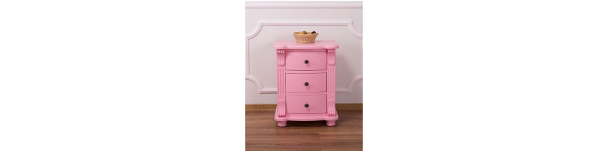 Comodini provenzali colorati, country e shabby chic