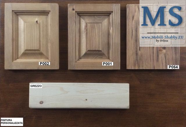 legno di pino natura spazzolato e cera