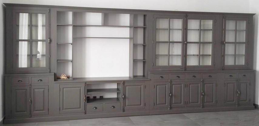 Libreria su misura parete attrezzata mobili shabby eu by - Parete attrezzata stile provenzale ...