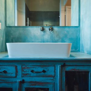 Credenza adattata per mobile bagno con lavandino in ceramica