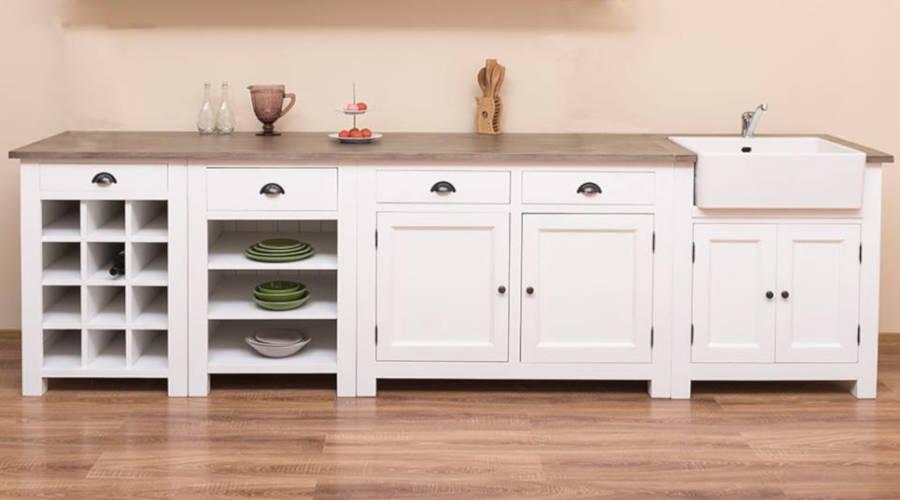 Cucina modulare e cucina freestanding in legno massello ...
