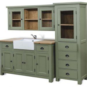 Cucina modulare verde