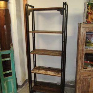 libreria industrial ferro legno