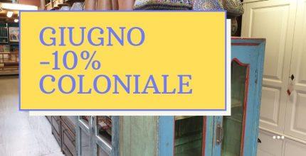 Giugno -10% sul'arredamento etnico-coloniale