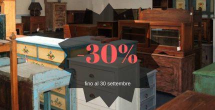 Sconto 30% per settembre