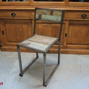 sedie ferro e legno stile industrial (4)